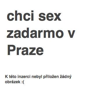 chci sex zadarmo v Praze